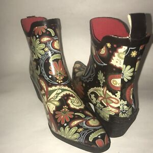 Womens Ankle Rain Boots Size 7