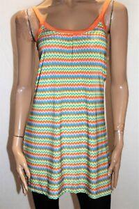Sweetacacia-Brand-Orange-ZIG-ZAG-Print-Sleeve-Dress-Size-10-BNWT-SD30