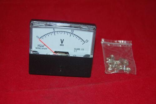 DC 15V Analog Voltmeter Panel Voltage Meter DC 0-15V 60*70mm directly Connect