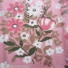 VINTAGE FABRIC QUILT CRAFT SEW DRESS QUALITY COTTON 1950S 60S PINK 2 DIRECTIONAL