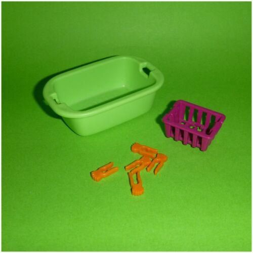 Waschkorb Wäschekorb und Klammern Playmobil