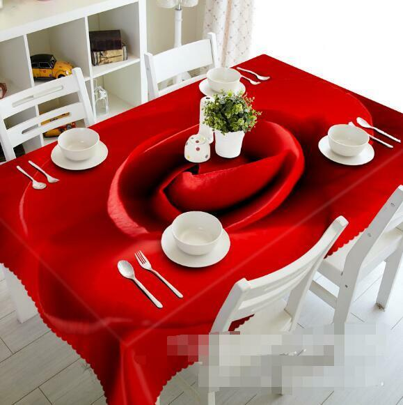 3D rouge Flower 138 Tablecloth Table Cover Cloth Birthday Party Event AJ WALLPAPER