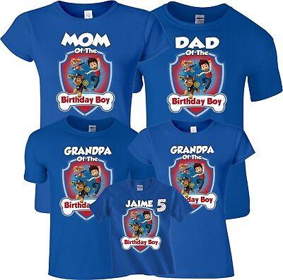 sale retailer street price beautiful style Mom Dad Family Custom Birthday Boy Birthday Girl Paw Patrol Customized  T-Shirts | eBay