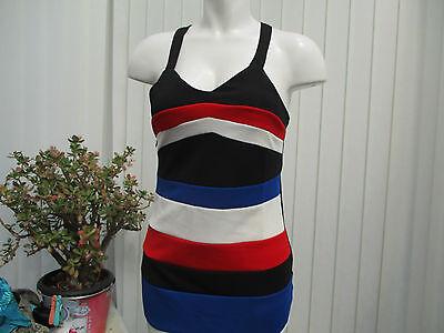 """""""malaika"""" Ladies Rosso Nero Bianco E Blu Dress Sz10/12 B.n.w.t.-mostra Il Titolo Originale Funzionalità Eccezionali"""