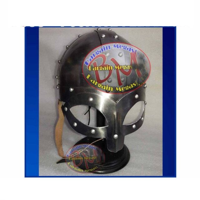 Viking Mask Helm w/ Inner Liner Drama Re-enactment larp role-play fancy-dress