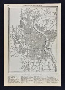 1904 Mapa Rowland Plan De La Ciudad De Cincinnati Ohio River
