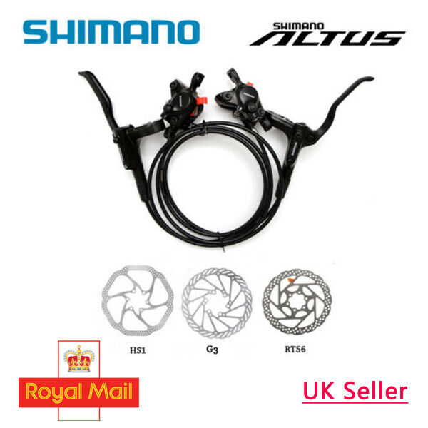 SHIMANO Altus BR-BL-MT200 Hydraulic Disc Brake Set MTB F&R HS1 G3 RT56 OE