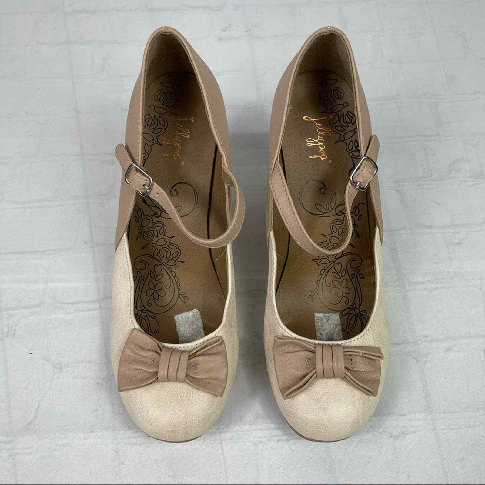 Jelly pop nude bow Mary Jane pumps - image 6