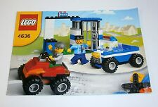 4636 LEGO Basic Police Building Set 100% complete with instructions cops robbers