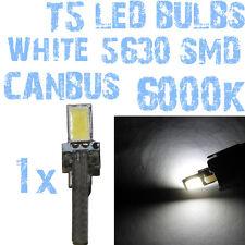 N° 1 Gloeilamp LED T5 Wit 6000K SMD 5630 Koplampen Angel Eyes DEPO FK 12v 1A7 1A