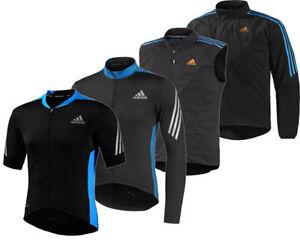 Para-Hombre-Adidas-Ciclismo-Camiseta-Informal-Lluvia-Abrigo-Chaqueta-Chaleco-Corto-Manga-Larga