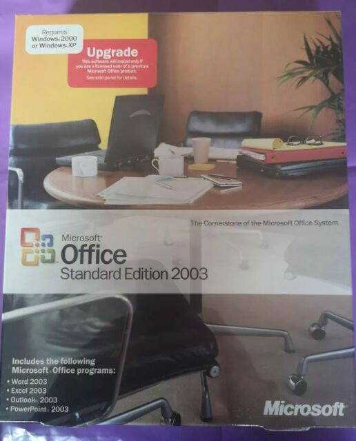 Microsoft Office 2003 Standard Upgrade Windows Retail Version With Product  Key