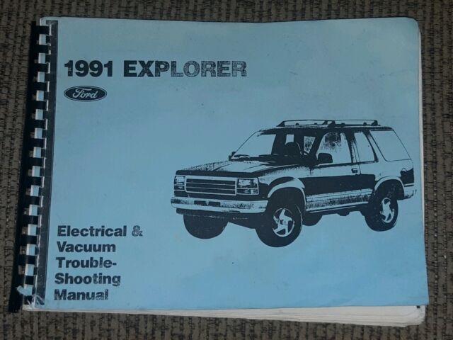 1991 Explorer Electrical Vacuum Troubleshooting Manual