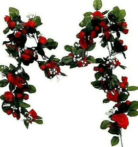 6ft-Pearl-Rose-Garland-Artificial-Silk-Flowers-Wedding-Arch-Swag-Decor-Backdrop