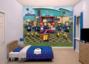 Fireman Sam Boys Wall Mural Picture 12 Piece Kids Bedroom Wallpaper