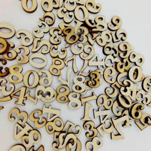 400x Natural Wooden Pieces Numbers Letters Wood Embellishment DIY Kids Craft