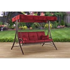 Superieur Front Porch Swing Set Outdoor Patio Swings With Canopy Swinging Bench  3 Person