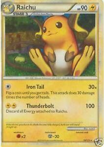 Raichu holo rare pokemon mint card heart gold soul silver - Pokemon argent pokemon rare ...