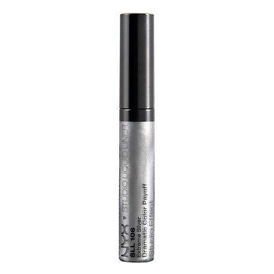 NYX Studio Liquid Liner color SLL106 Extreme Silver ( Metallic silver )