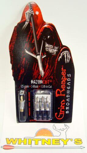 "125 Grain Grim Reaper RazorCut SS Broadhead-1 3//8/"" Cut 1813"