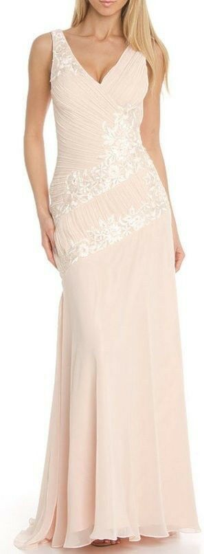 Sz 6  Sue Wong Nocturne Gown Dress Wedding Pageant Prom blueesh Peach Pink