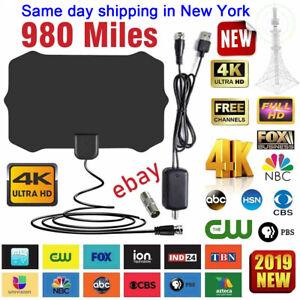 Digital TV Antenna 980 Miles Range Signal Booster Amplifier HDTV Indoor HD 1080P