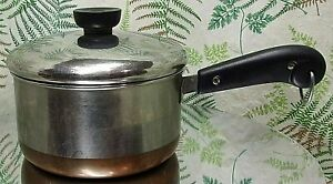REVERE-WARE-1-5-QUART-STOCK-PAN-POT-COPPER-BOTTOM-1801-COOKWARE-WITH-LID