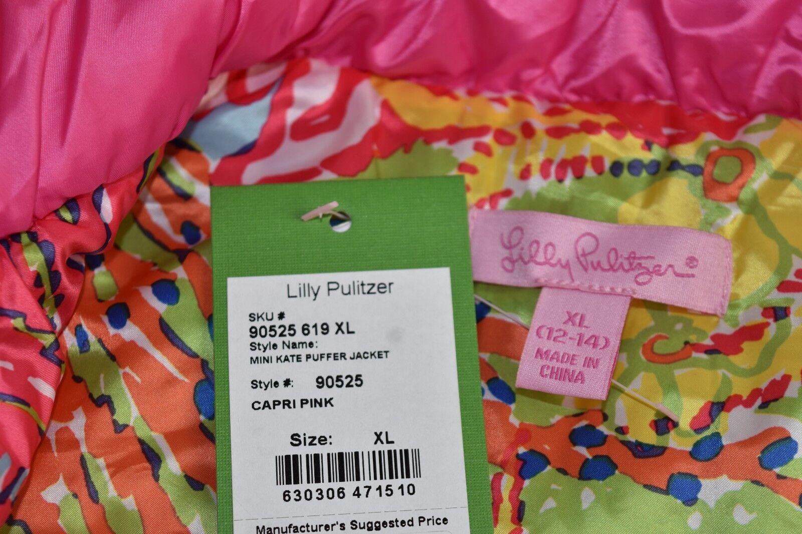 Lilly Pulitzer Girls Resort White Paradisio Mini Kate Puffer Jacket