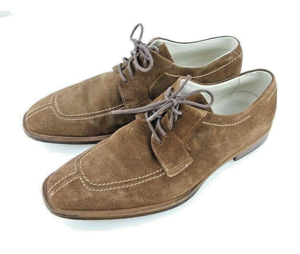 classico senza tempo Hugo Boss Split Toe ITALY Marrone Snuff Snuff Snuff Suede Leather Oxford Uomo Derby scarpe 8.5  offrendo il 100%