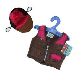 Bear-Clothes-fits-Build-a-Bear-Teddies-Fishing-Jacket-amp-Hat-15in-Bear-Clothing