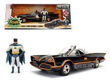 1966 CLASSIC TV SERIES BATMOBILE BATMAN AND ROBIN IN CAR 1/24 DIECAST JADA 98259