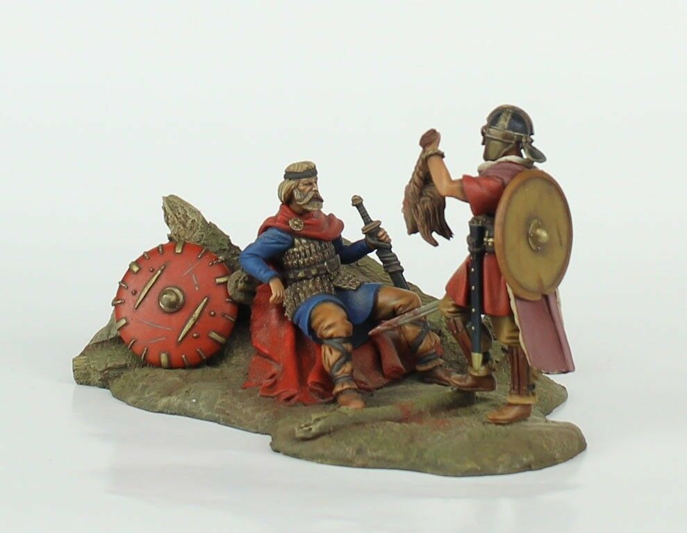 Verlinden Built 54mm 1 32 The Trophy Viking Warriors Original Display  VPB2014