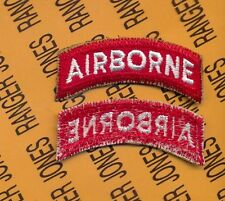 US ARMY AIRBORNE TAB RED & WHITE patch c/e