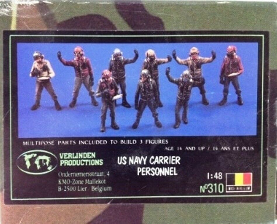 1 48 Verlinden US Navy Carrier Personnel +Tow +Fire +Fire +Fire Tractors  NEUF-NEW-NEU 01324a