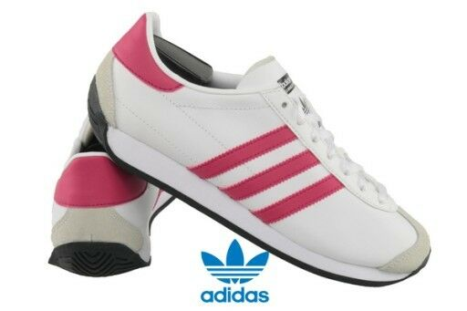 more photos f73da 92c6f Kidss adidas Originals Country OG J Lace-up Trainers in White UK 4  EU 36  23 for sale online  eBay