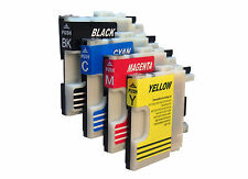 4 CARTUCCE INCHIOSTRO PER BROTHER DCP -195 CMFC - 490cw mfc250c dcp-165c mfc-5440c dcp145