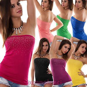 Top-maglia-fascia-donna-tube-tubo-bustino-bustier-corpetto-strass-AS-2200