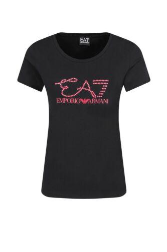 Armani Nero Ea7 T Emporio Slim Donna 7 Maglia Logo shirt Urw5rY