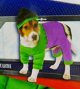 Image is loading Rubies-Hulk-Pet-Halloween-Costume-Dog-Cat-Marvel- & Rubies Hulk Pet Halloween Costume Dog Cat Marvel Superhero Size S XL ...