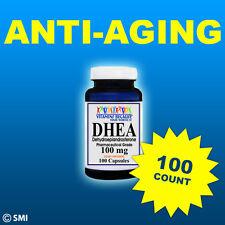 DHEA 100 Capsules w/100mg Dehydroepiandrosterone-Pharmaceutical Grade-Anti-Aging