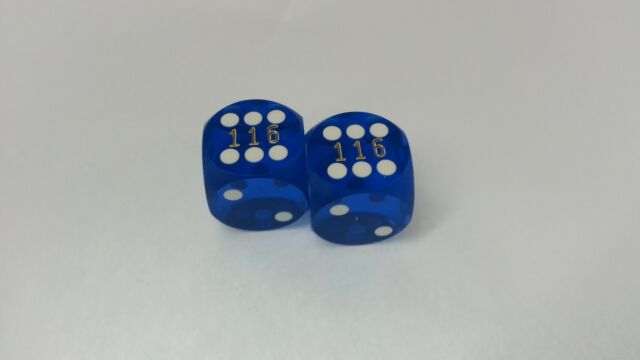 Buy Casino Polished Blue 5 8 Precision Backgammon Dice Set Of 2 ... 2ee33538f6032