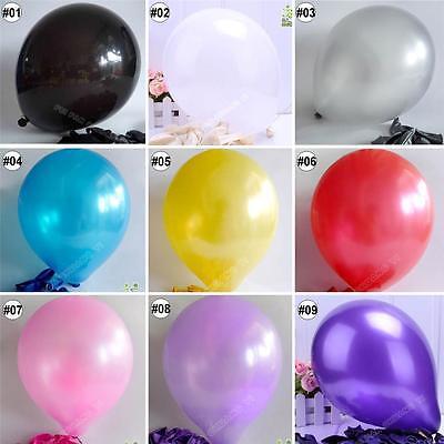 "10/100pcs 12"" Round Latex Balloons Party Wedding Helium Quality U Pick 9 Colors"