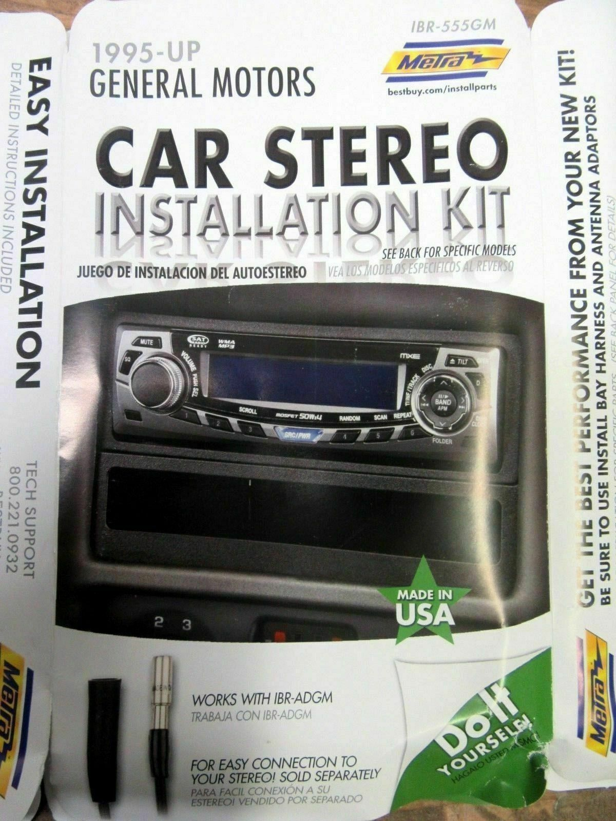 METRA IBR-555GM 1995-UP GENERAL MOTORS INSTALLATION KIT **NEW OTHER**