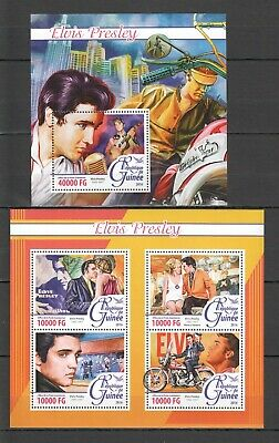 Stamps Methodical St090 2016 Guinea Music Famous People Elvis Presley 1kb+1bl Mnh