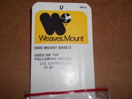 CARBINE 30 M1 WEAVER SIDE MOUNT BASE U FOR THE U.S