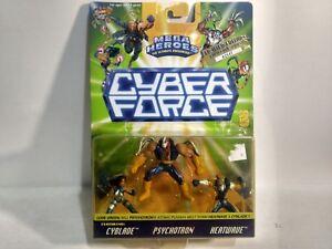 Diskret Cyber Force Mega Heroes Limitierte Auflage Cyblade Psychotron & Heatwave Figuren Spielzeug