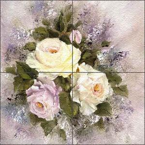 Floor-Tile-Medallion-Mural-Cook-Floral-Flowers-Rose-Art-16-034-x-16-034-CC008