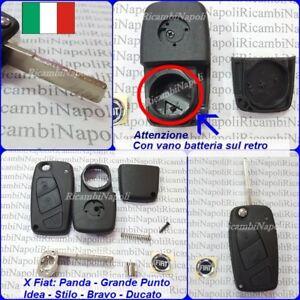 online qui stile distintivo genuino Dettagli su Scocca Chiave Cover Telecomando con 3 Tasti FIAT PANDA IDEA  GRANDE PUNTO DUCATO