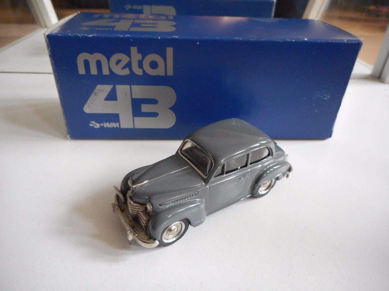 Western Models Metal 43 Opel Olympia Limousine 1952 in gris on 1 43 in Box