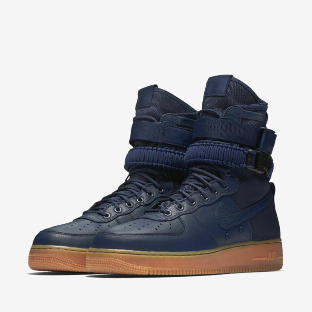 Nike SF Af1 Sneakerboots Men's Size 10 Special Field Air Force 1 Midnight Navy